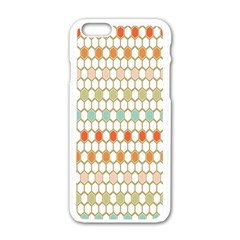 Lab Pattern Hexagon Multicolor Apple Iphone 6/6s White Enamel Case by AnjaniArt
