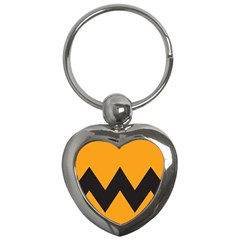 Minimal Modern Simple Orange Key Chains (heart)  by AnjaniArt