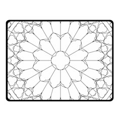Roses Stained Glass Fleece Blanket (Small) by Amaryn4rt