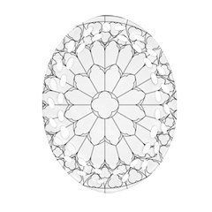 Roses Stained Glass Ornament (oval Filigree)  by Amaryn4rt