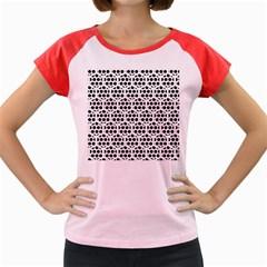 Seamless Honeycomb Pattern Women s Cap Sleeve T Shirt