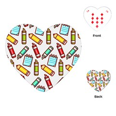 Seamless Pixel Art Pattern Playing Cards (heart)  by Amaryn4rt