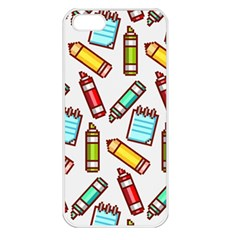 Seamless Pixel Art Pattern Apple Iphone 5 Seamless Case (white)