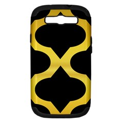 Seamless Gold Pattern Samsung Galaxy S Iii Hardshell Case (pc+silicone) by Amaryn4rt