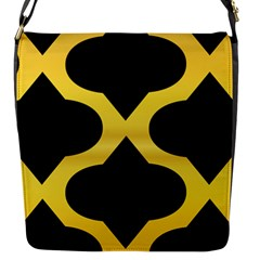 Seamless Gold Pattern Flap Messenger Bag (s) by Amaryn4rt