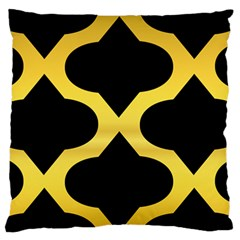 Seamless Gold Pattern Large Flano Cushion Case (one Side) by Amaryn4rt