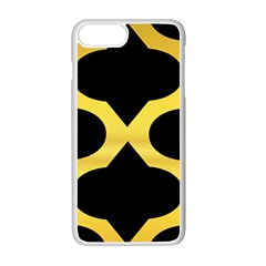 Seamless Gold Pattern Apple iPhone 7 Plus White Seamless Case by Amaryn4rt