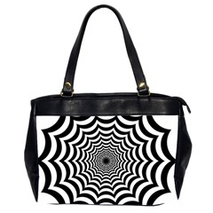 Spider Web Hypnotic Office Handbags (2 Sides)  by Amaryn4rt