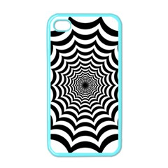 Spider Web Hypnotic Apple Iphone 4 Case (color) by Amaryn4rt