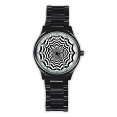 Spider Web Hypnotic Stainless Steel Round Watch by Amaryn4rt