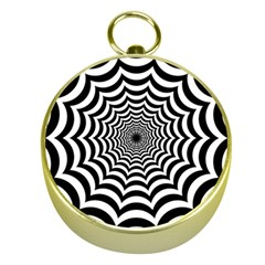 Spider Web Hypnotic Gold Compasses by Amaryn4rt