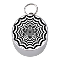 Spider Web Hypnotic Mini Silver Compasses by Amaryn4rt