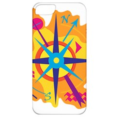 Orange Navigation Apple Iphone 5 Classic Hardshell Case by Valentinaart
