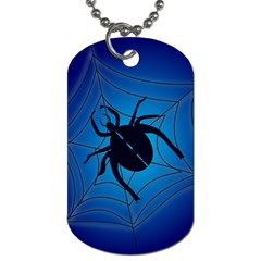 Spider On Web Dog Tag (two Sides) by Amaryn4rt