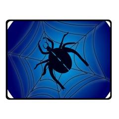Spider On Web Fleece Blanket (Small) by Amaryn4rt