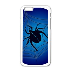 Spider On Web Apple Iphone 6/6s White Enamel Case by Amaryn4rt