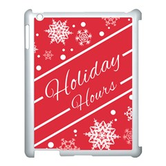 Winter Holiday Hours Apple Ipad 3/4 Case (white) by Amaryn4rt