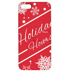 Winter Holiday Hours Apple Iphone 5 Hardshell Case With Stand by Amaryn4rt