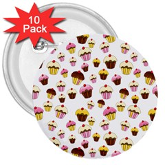 Eat Me 3  Buttons (10 Pack)  by Valentinaart