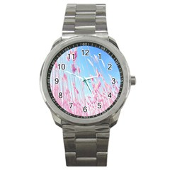 Pink Colour Sport Metal Watch by AnjaniArt