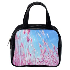 Pink Colour Classic Handbags (one Side) by AnjaniArt