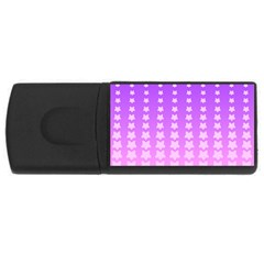 Purple And Pink Stars Line Usb Flash Drive Rectangular (4 Gb)  by AnjaniArt