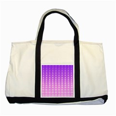 Purple And Pink Stars Line Two Tone Tote Bag by AnjaniArt