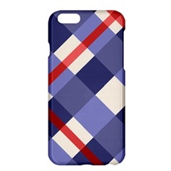 Red And Purple Plaid Apple Iphone 6 Plus/6s Plus Hardshell Case by AnjaniArt