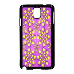 Purple Optical Illusion Wallpaper Samsung Galaxy Note 3 Neo Hardshell Case (Black) by AnjaniArt