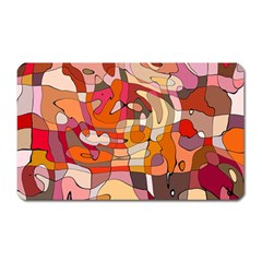 Abstract Abstraction Pattern Moder Magnet (Rectangular) by Amaryn4rt