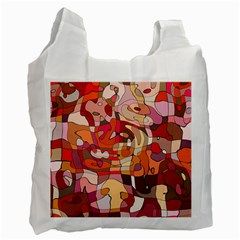 Abstract Abstraction Pattern Moder Recycle Bag (one Side) by Amaryn4rt