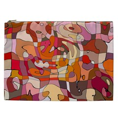 Abstract Abstraction Pattern Moder Cosmetic Bag (xxl)