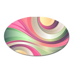 Abstract Colorful Background Wavy Oval Magnet by Amaryn4rt