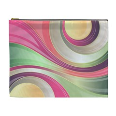 Abstract Colorful Background Wavy Cosmetic Bag (xl) by Amaryn4rt