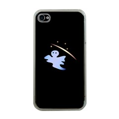 Ghost Night Night Sky Small Sweet Apple Iphone 4 Case (clear) by Amaryn4rt
