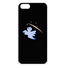 Ghost Night Night Sky Small Sweet Apple Iphone 5 Seamless Case (white)