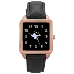 Ghost Night Night Sky Small Sweet Rose Gold Leather Watch  by Amaryn4rt