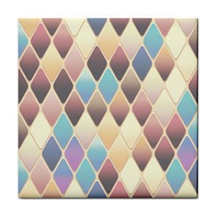 Abstract Colorful Background Tile Face Towel by Amaryn4rt