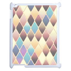 Abstract Colorful Background Tile Apple Ipad 2 Case (white) by Amaryn4rt