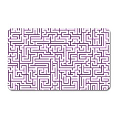 Maze Lost Confusing Puzzle Magnet (rectangular) by Amaryn4rt
