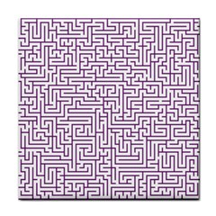 Maze Lost Confusing Puzzle Face Towel by Amaryn4rt