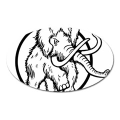 Mammoth Elephant Strong Oval Magnet by Amaryn4rt