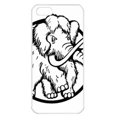 Mammoth Elephant Strong Apple Iphone 5 Seamless Case (white) by Amaryn4rt