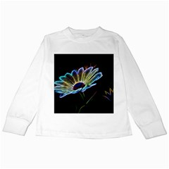 Flower Pattern Design Abstract Background Kids Long Sleeve T Shirts