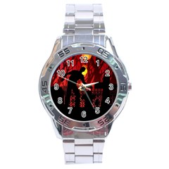 Horror Zombie Ghosts Creepy Stainless Steel Analogue Watch by Amaryn4rt