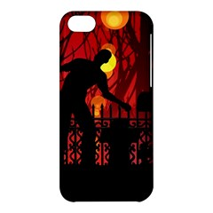 Horror Zombie Ghosts Creepy Apple Iphone 5c Hardshell Case by Amaryn4rt