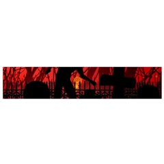 Horror Zombie Ghosts Creepy Flano Scarf (small) by Amaryn4rt