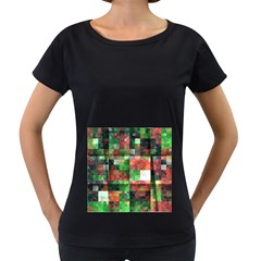 Paper Background Color Graphics Women s Loose Fit T Shirt (black) by Amaryn4rt