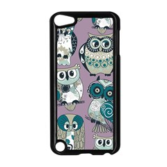 Seamless Owl Pattern Purple Apple Ipod Touch 5 Case (black) by AnjaniArt