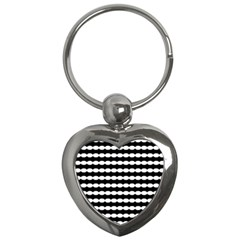 Silhouette Overlay Oval Key Chains (heart)  by AnjaniArt